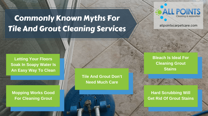 Commonly Known Myths For Tile And Grout Cleaning Services